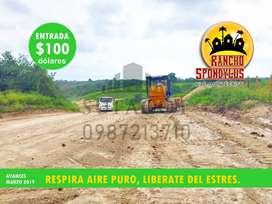 PONTE PILAS ECUATORIANO,ADQUIER TU SOLAR DE CAMPO DESDE 1.000M2 HASTA 6.000M2,ENTRADA DE 100 USD,CUOTAS DESDE 138,02,SD1