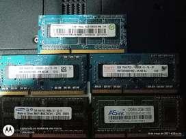 Mega combo DDR 3. 2 GB c/u