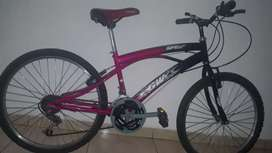 Vendo bicicleta de cambios es una GW