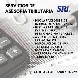 Declaraciones SRI y servicios contables tributarios