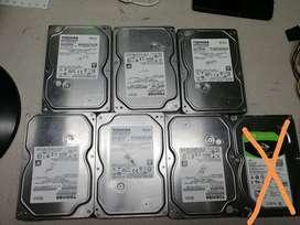 6 discos duros mecánicos de segunda para PC de 1 tera