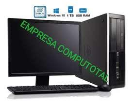 OFERTA PC HP CORPORATIVO CORE I5 CON MONITOR 19 TECLADO MAUSO GARANTÍA 6 MESES
