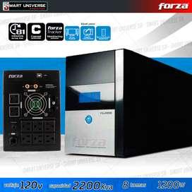 Ups Regulador Forza 2kva 2200va 1200w 8 tomas Pc Gamer Servidores