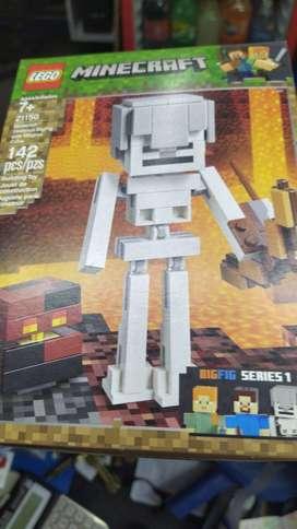 Lego Minecraft Bigfig Skeleton With Magma Cubo 21150
