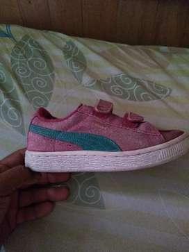 Zapatillas puma niña rosada