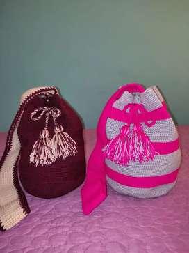 Mochilas wayúu en crochet