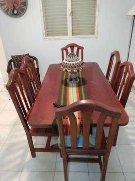 Juego de comedor completo mesa y 6 sillas