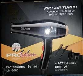 Secadora De cabello 6000w marca lemman