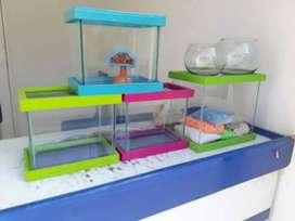 Peceras,acuarios y accesorios
