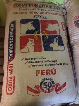 Polvillo de arroz x 50 kgs
