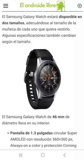 Vendo reloj Samsung Galaxy Watch