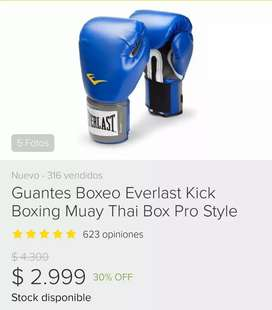 GUANTES BOXEO EVERLAST 12od