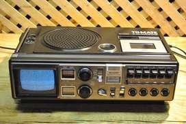 Sharp Trimate Radio AM-FM Grabador Casete TV Monocolor 220v y Pila (No incluídos)