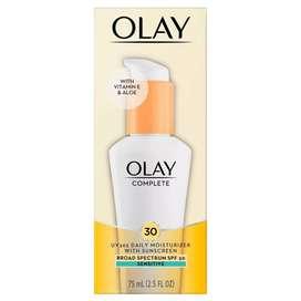 Olay Complete protector solar SPF 30 para piel sensible