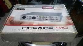 Interface de Grabación M-audio FireWire 410 con cable y adaptador para USB usada