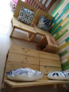 Sillas para sala o negocio madera Pino