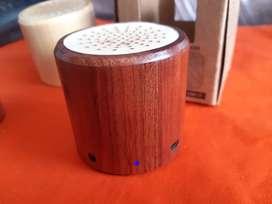 Mini parlante madera bluetooth bambú 3w