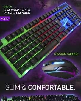 Kit Teclado Mouse Noga Retroiluminado nuevo