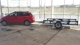Trailer 2 x 1,2 metros 1 eje moto cuatriciclo arenero