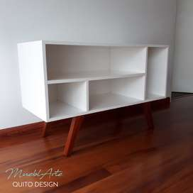 Mesa de tv nórdica patas de madera