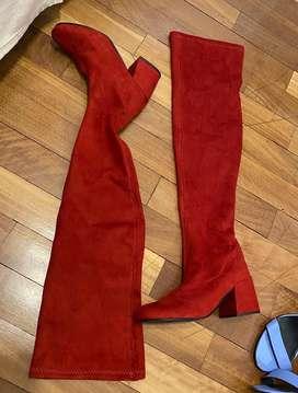 Botas bucaneras de SamiShow rojas 35