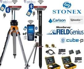 Promoción Gnss Rtk S800a Up Stonex 600 Canales L1/L2/L5 Año 2019 GSM/UHF/BANDA-L con descuento del 8%