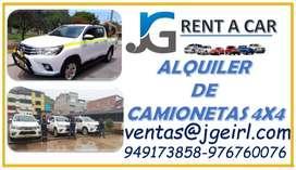 ALQUILER DE CAMIONETAS 4X4 , ALQUILER DE CUSTER , ALQUILER DE VAN , ALQUILER DE COMBI , CAMIONES , CONDUCTORES