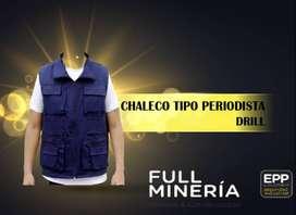 CHALECO TIPO PERIODISTA DRILL
