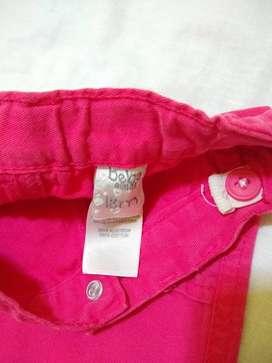 Pantalon GIMOS gabardina rosa 18m use 1 vez