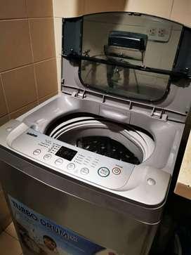 Lavadora LG 18 lbs gris