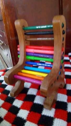 Organizador de colores o bolígrafos oficina