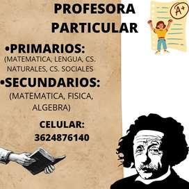 Clases particulares/ primaria y secundaria