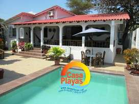 Casa de Alquiler en Playas con piscina para 15 personas