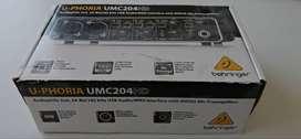 Interfaz De Audio Behringer U-phoria Umc204hd Grabación