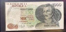 Billete $1.000 colombianos 1979