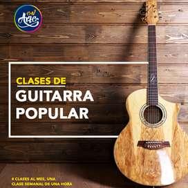 Clases de Guitarra Acústica y Eléctrica. Academia EN Arte y Música.  Teoría, Técnica, Estilos e Improvisación.