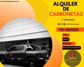 ALQUILER DE CAMIONETAS 4X4