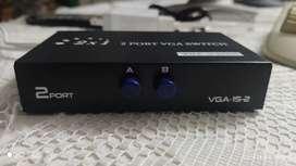 Switch 2x1 para monitores VGA Poco Uso