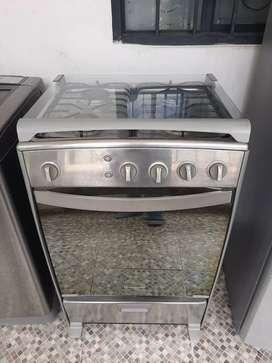 Cocina indurama acero inoxidable, gratinador encendido eléctrico