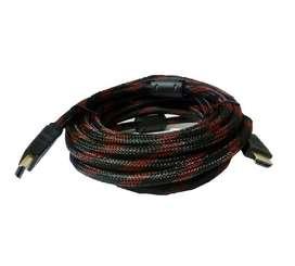Cable Hdmi Doble Filtro 15 Mts Oro 24k Hd 1080 La Plata