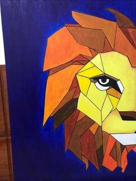Lienzo león