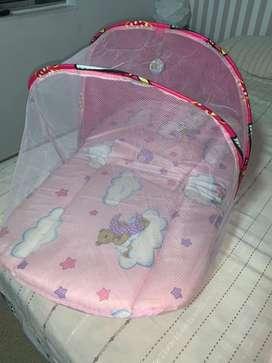 Colchoneta para bebe con toldillo // sleeping bag para bebe