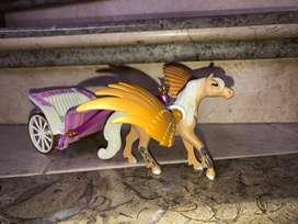 Playmobil carruaje con pegaso y princesa