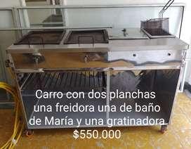 CARRITO DE PERROS Y FREIDORA