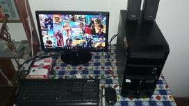 Computador full estado 6gb ram tarjeta de video ddr3 de 2gb y disco duro de 500gb con pantalla LED Samsung 19pulgadas