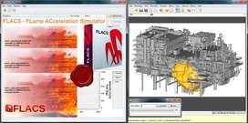 Programa 3D Gexcon FLACS DISEÑO MODEL  EXPLOSIONES E INCENDIOS  EDIFICIOS SOFTWARE