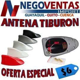 ANTENA TIBURÓN PARA CARRO COLORES VARIADOS PRECIO OFERTA 6,00
