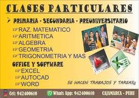CLASES DE MATEMÁTICAS - PRÁCTICAS