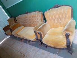 Juego de living frances original. estilo Luis XVI