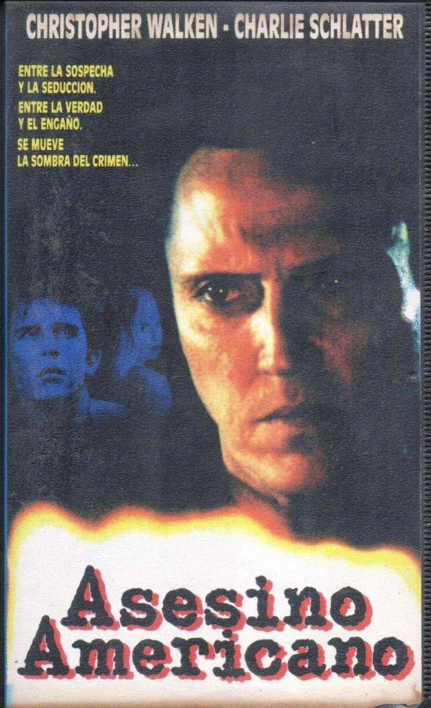 ASESINO AMERICANO PELICULA EN VHS CHRISTOPHER WALKEN CHARLIE SCHLATTER AUDIOMAX 0